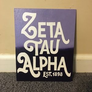 Other - 8x10 Zeta Tau Alpha purple ombré canvas